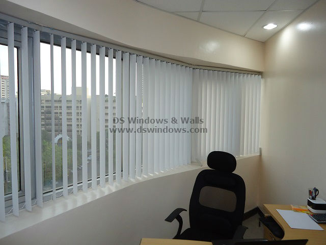 Corner Office Space Using PVC Vertical Blinds   Legaspi Village, Makati
