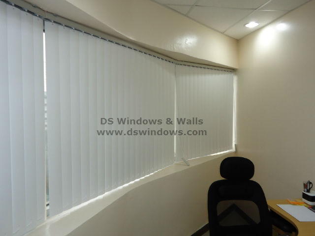 PVC Vertical Blinds Installed at Legaspi Village, Makati City Philippines