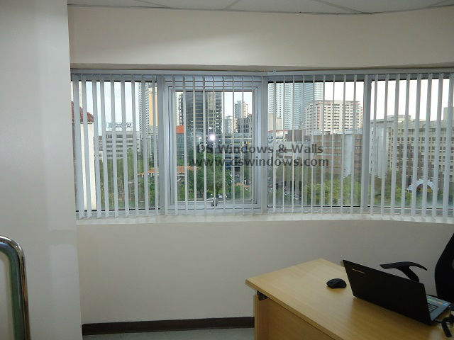 PVC Vertical Blinds For Corner Office Space - Makati City, Philippines