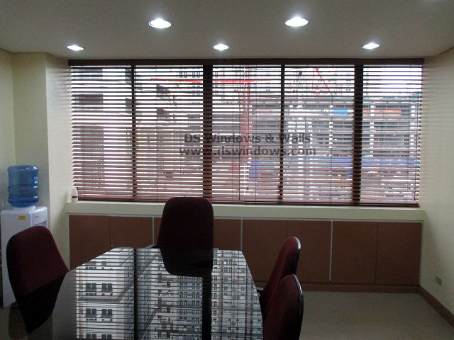 Faux Wood Blinds installed at Ortigas Ave., Pasig City, Philippines