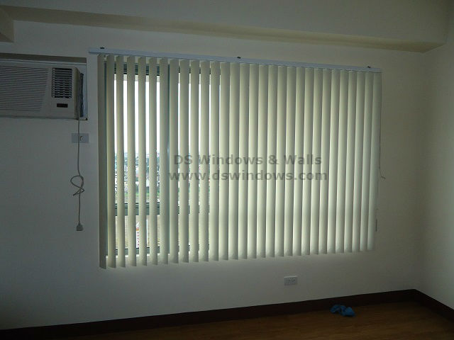 PVC Vertical Blinds installed at Moonwalk Village, Las Piñas city, Philippines