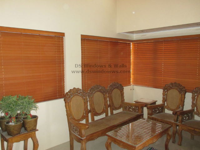 Wooden Blinds installed at Sariaya Quezon, Philippines