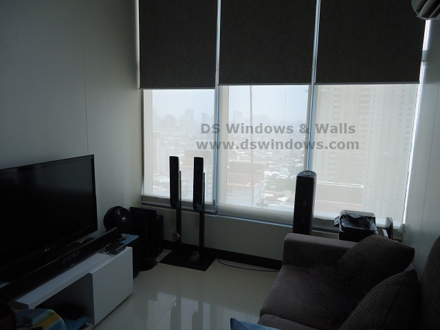 Dual Mechanism Roller Blinds installed at Rockwell Makati, Philippines