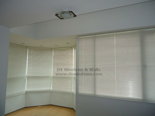 Aluminum Mini Blinds for Curved Bay Window - Mandaluyong City, Philippines