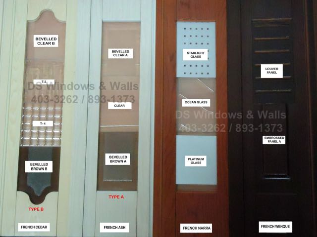 Customizable features of french folding door