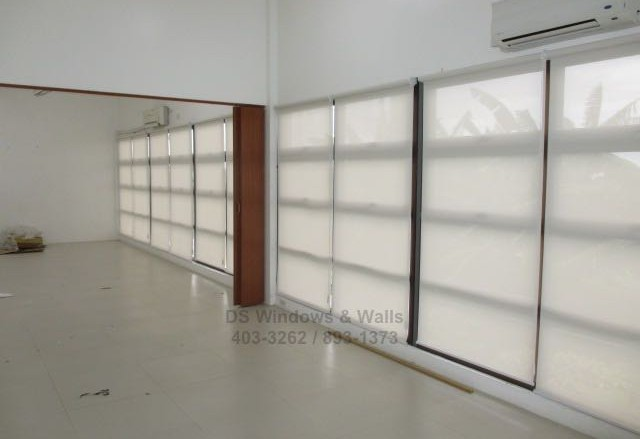 Roller shades and folding door project