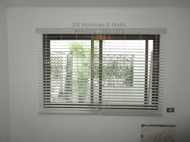 outside mounting faux wood blinds