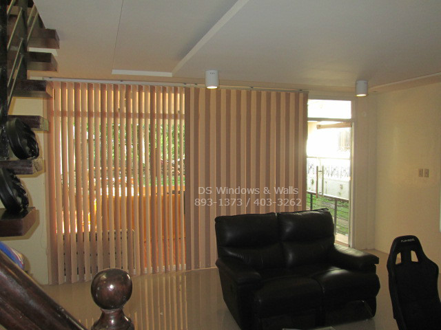 Enjoying Gaming Room with Vertical Blinds