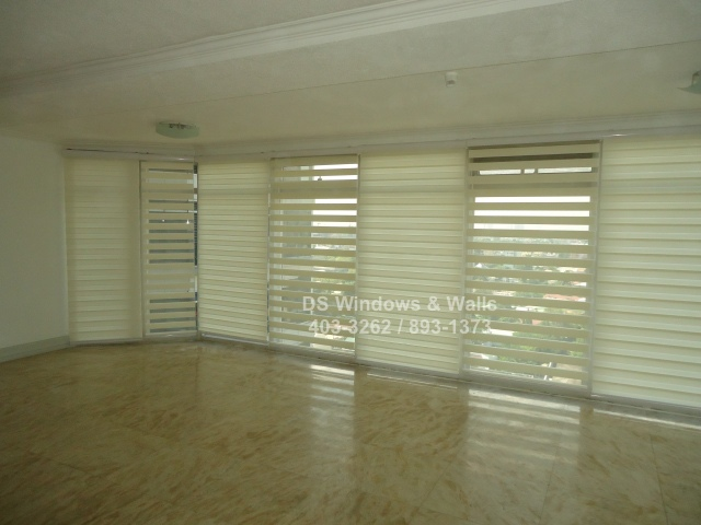 Using white combi shade for creating more peso value to your condo.