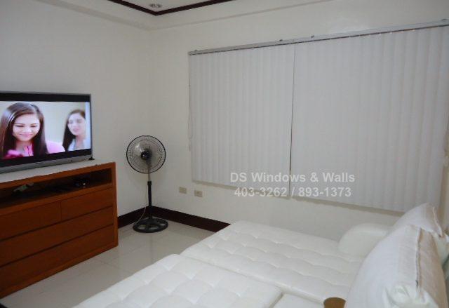 White Vertical Blinds for Bedroom